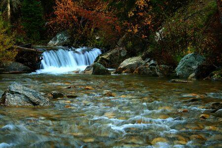 Canyon Creek in autumn, central Idaho