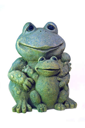 Two perky green frogs provide a warm greeting and add a cozy feeling.