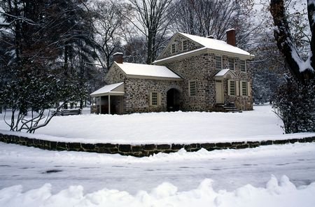 forge: This magnificent eighteenth century house served as Washingtons headquarters and residence during the war of independence - Valley Forge Park, Pennsylvania.