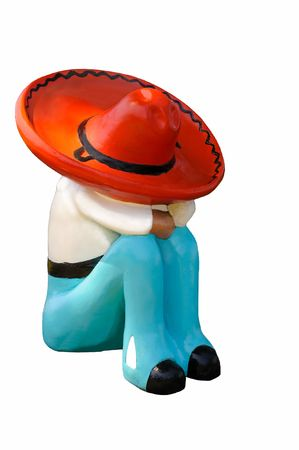 siesta: A colorful mexican figurine synbolic of siesta time during the hot summer afternoons. Stock Photo