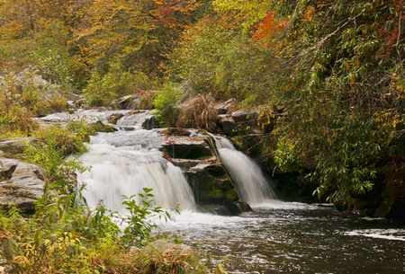 Otter Creek Falls as seen from a small off road trail in Topton, North Carolina. photo