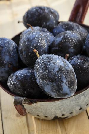 homemade purple plum sweet preserves