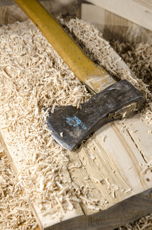 joinery: joinery tools - ax on wooden table