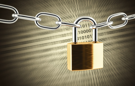 copyspace: illustration of padlock with copyspace 3D illustration