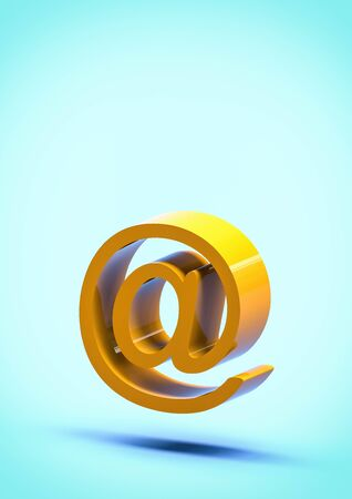 at e-mail sign with copy space 3d illustration