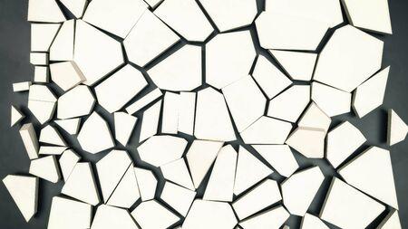 rissige Oberfläche der Eisschollen 3D-Darstellung