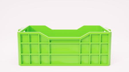 food waste: green box used in transportation 3d illustration