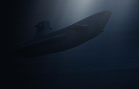 submarine warship 3d illustration