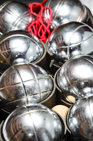 petanque set Stock Photo