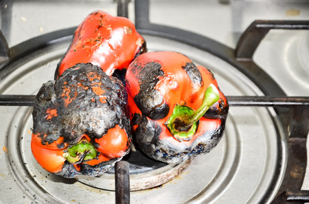 Pepper fired on gas
