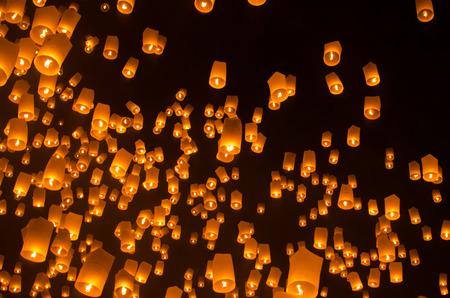 Loi Krathong festival chiang mai thailand photo