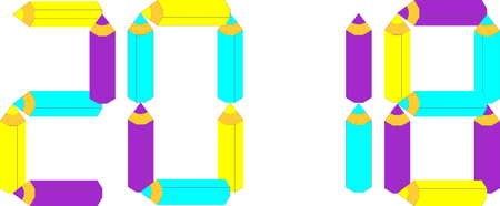 2018 colorful design template