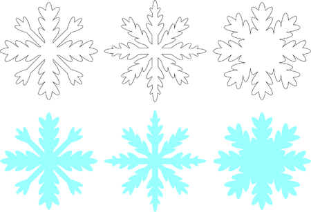 White and blue snowflakes Illustration