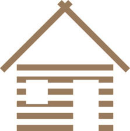 窓とドアベクトルイラストを持つ木造住宅。  イラスト・ベクター素材
