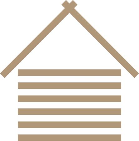 木造住宅 ベクトルイラスト。
