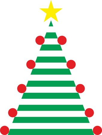 Easy Christmas Tree with stars and balls
