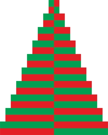 Easy Christmas Tree in green and red color