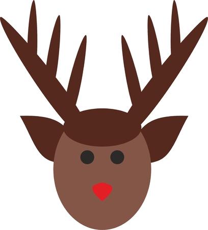 Simple reindeer illustration. Illustration
