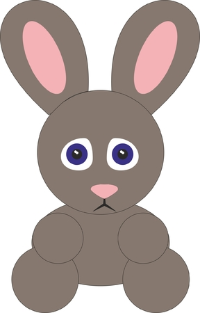 Brown Rabbit Illustration isolated on plain background.