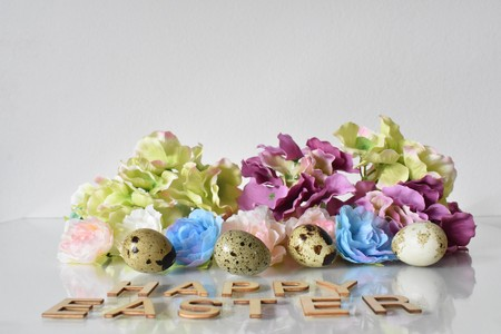 Easter Decoration on White Background