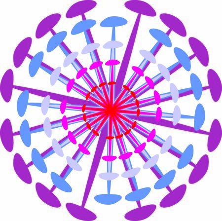 Isolated coronavirus bacteria illustration, cell of coronavirus, simple coronavirus icon Иллюстрация