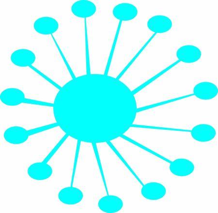 Isolated coronavirus bacteria illustration, cell of coronavirus, coronavirus icon Ilustração