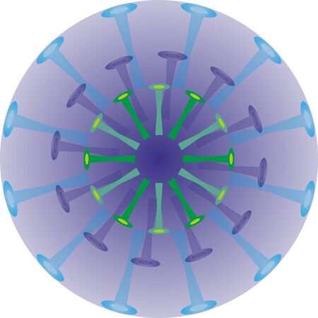 Isolated coronavirus bacteria illustration, cell of coronavirus, simple coronavirus icon Illustration