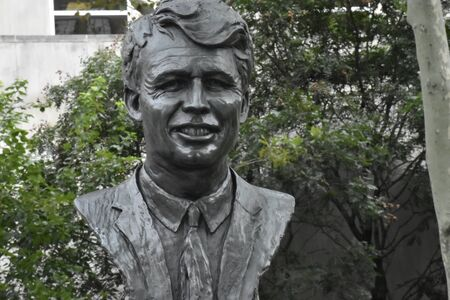 bust of Sen. Robert Kennedy in a Brooklyn park Редакционное
