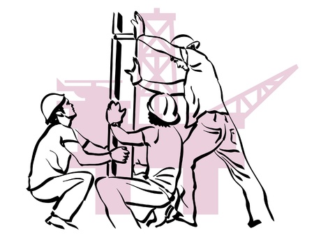 oil worker Vector