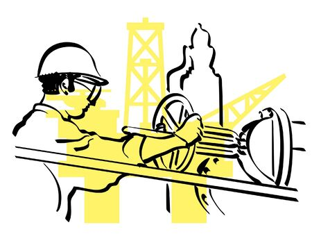 gold mining: oil worker