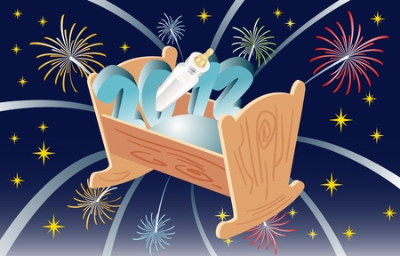 fireworks 'hope fireworks: 2012 Illustration