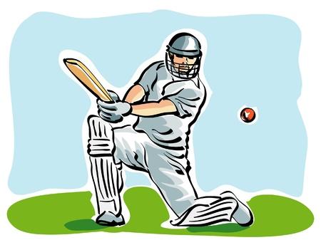 illustration d'un joueur de cricket