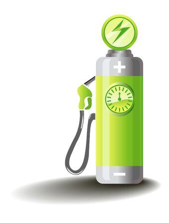 baterii: Symboliczne ilustracji dla mobilności elektrycznej Ilustracja