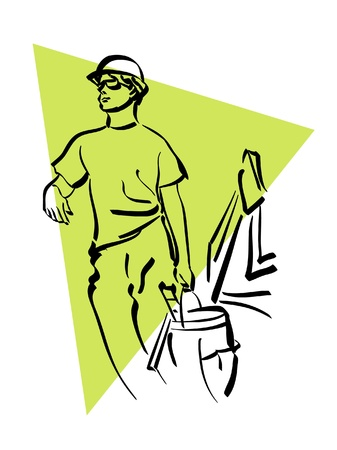 bricklayer: construction worker