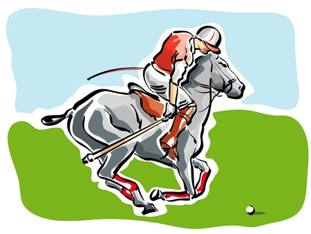 polo ball: Polo Player