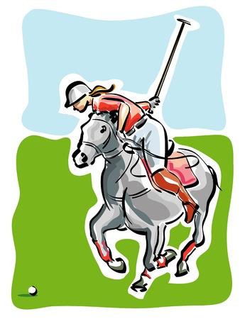 Polo Player Vector