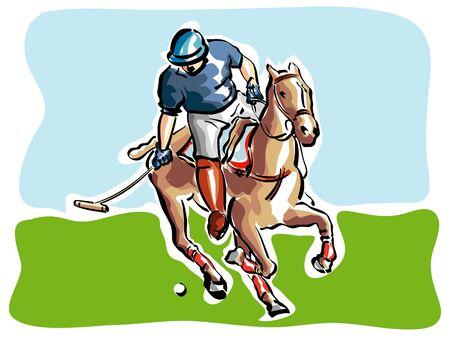 polo sport: Polo Player
