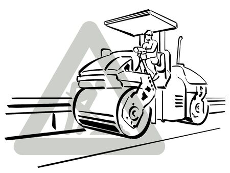 paving: Asphalter Illustration
