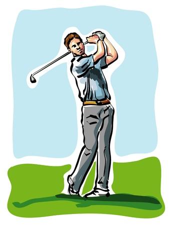 golf player Stock Vector - 14225583