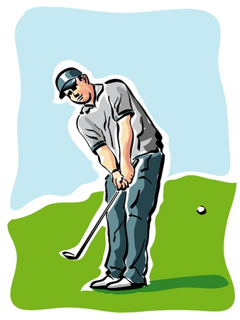 golf player Stock Vector - 14225575