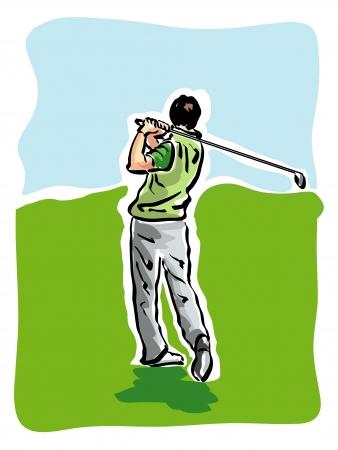 battu: joueur de golf Illustration