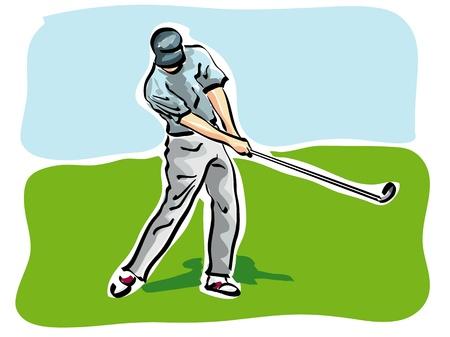 beaten: golf player