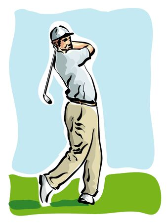 golf player Stock Vector - 14225559