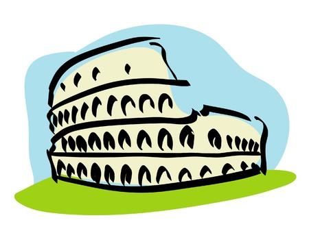 roma antigua: Roma Coliseo Vectores