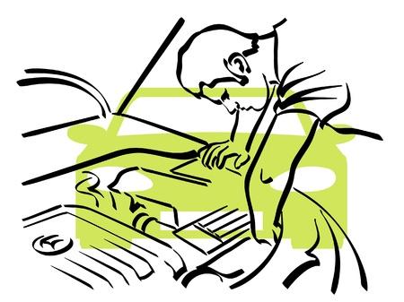 reparation automobile: R�paration automobile Illustration