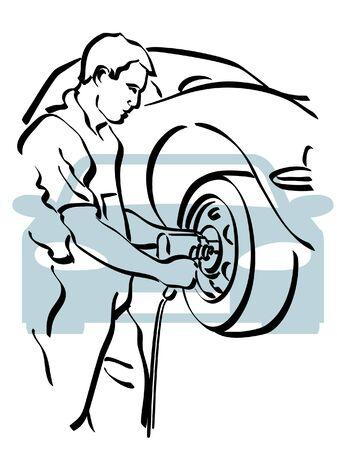 riparatore: Auto di riparazione