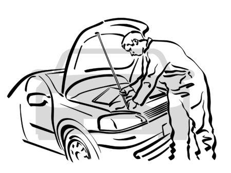 Naprawy samochodów Ilustracje wektorowe