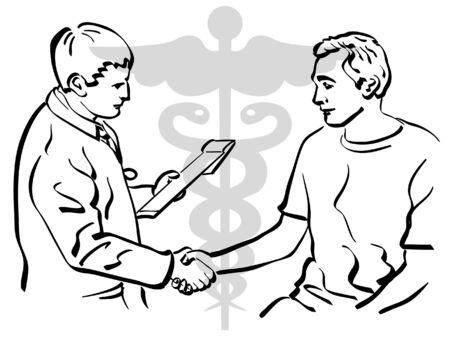 Doctor patient: M�dico Vectores