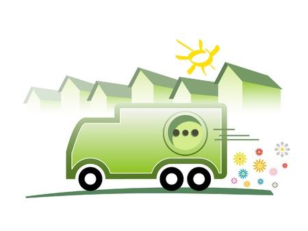 electric car: electric car Illustration