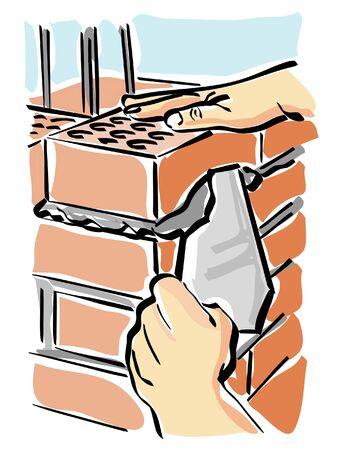bricklayer: build Illustration